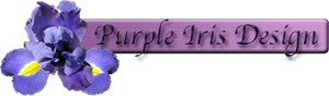 Purple Iris Design Logo